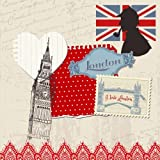 I Love London: Travel Journal Scrapbook: Full Color with Photo Pages and Color Artwork