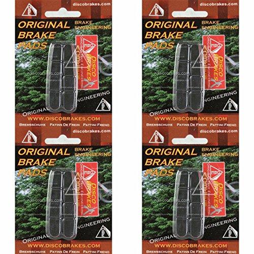 4 Pairs Shimano Dura-Ace Ultegra 105 Road Brake Pad Inserts BR-7700 7800 DiscoB by DiscoBrakes ()