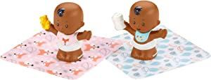 Fisher-Price Little People Snuggle Twins Figure Set for Toddlers