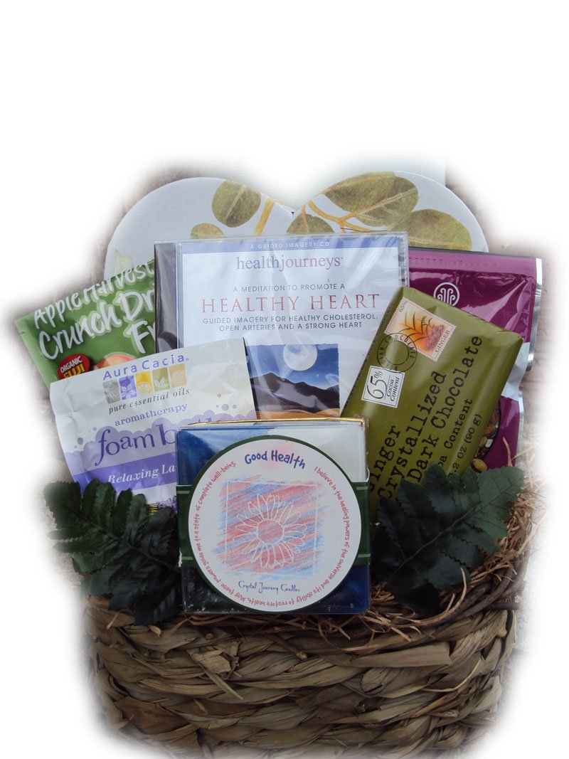 Heart Healthy Get Well Basket & Guided Imagery