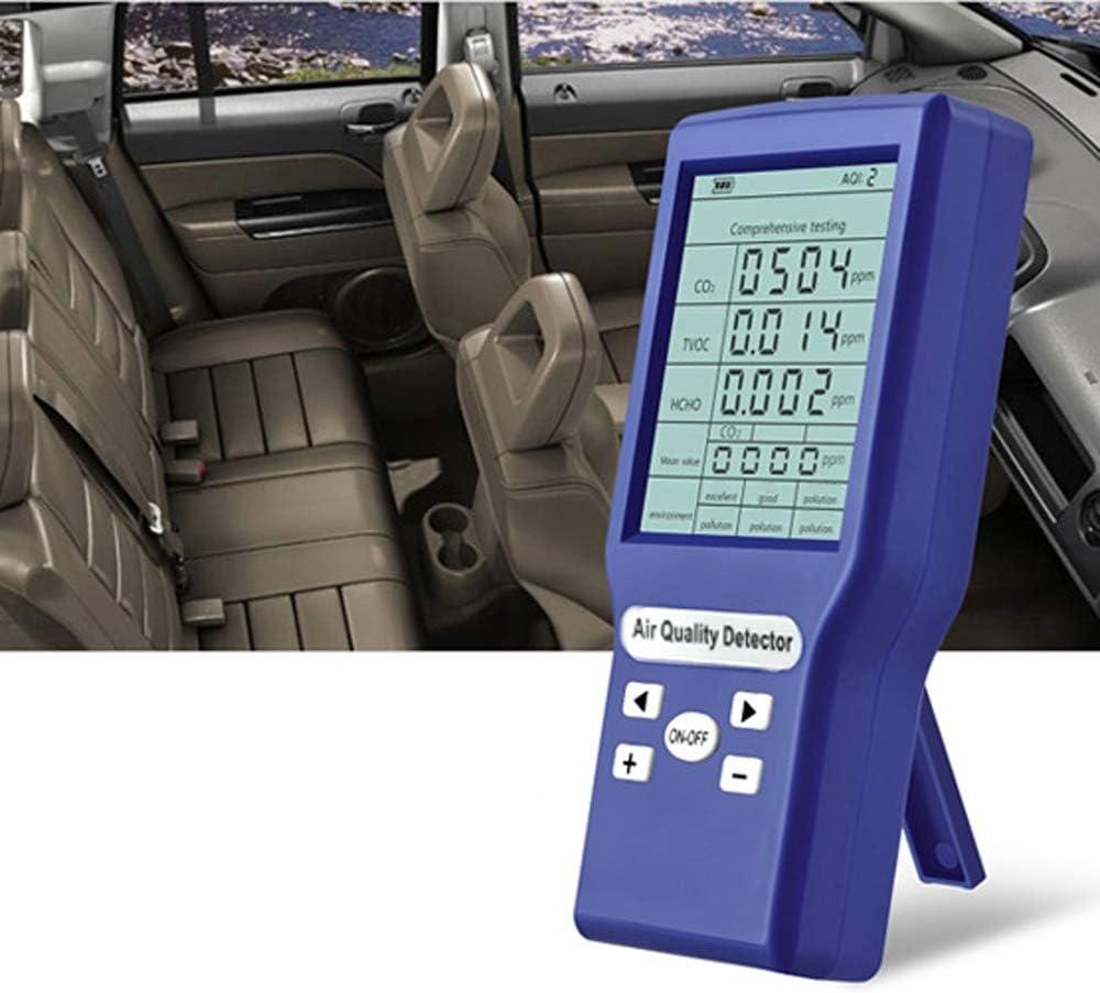 Baugger Medidores multncionales de CO2 ppm Mini detector de di/óxido de carbono Analizador de gases Probador de calidad del aire protable