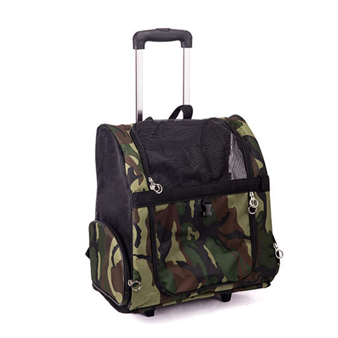 Camouflage L Camouflage L KERVINZHANG Pet Carrying Bag Pet Trolley Case Pet Box Outing Pet Box Pet Chest Backpack (color   Camouflage, Size   L)