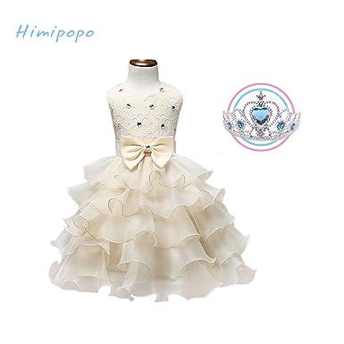 8a08a07ab7e5 Amazon.com  himipopo Girl Wedding Dress Flower Sequin Princess Tutu ...