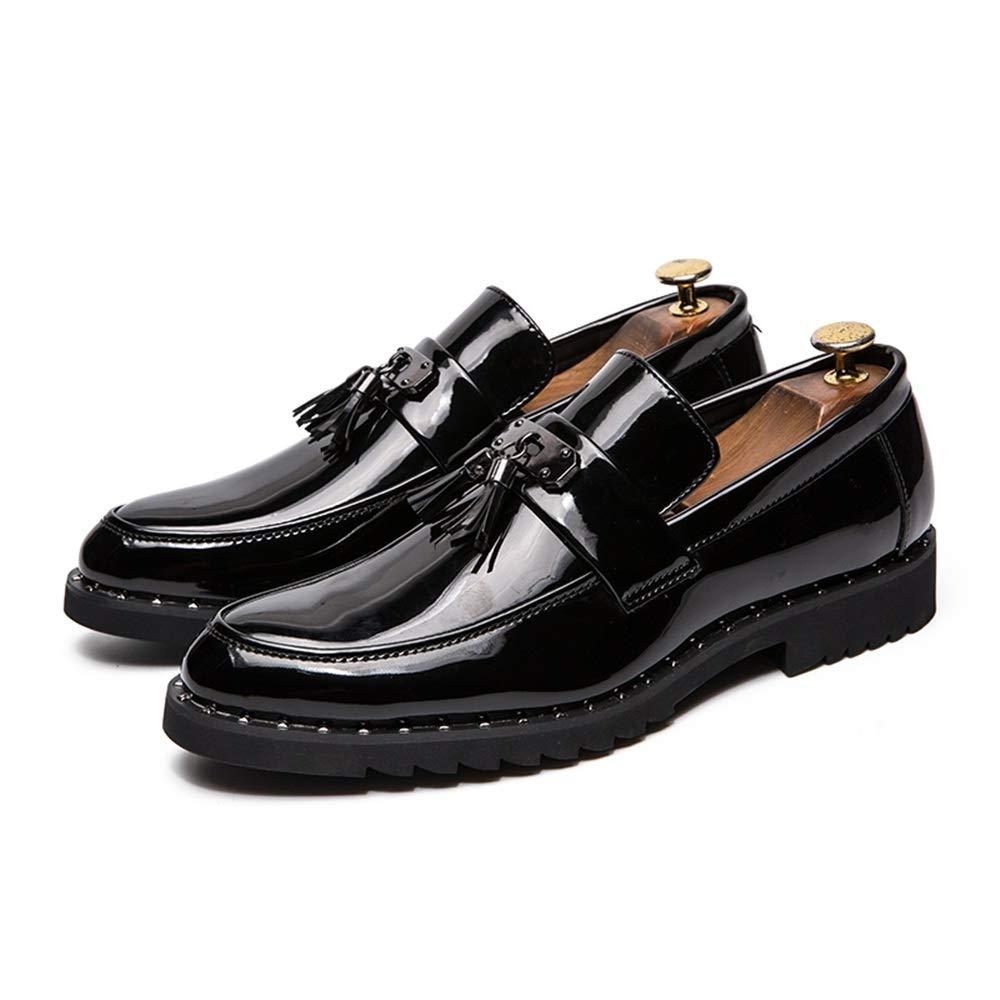 Jusheng Calzado Formal de Charol Charol Charol Casual de Oxford con Flecos de Cuero para Hombres (Color : Negro, tama ntilde;o : 44 EU) dec7d8