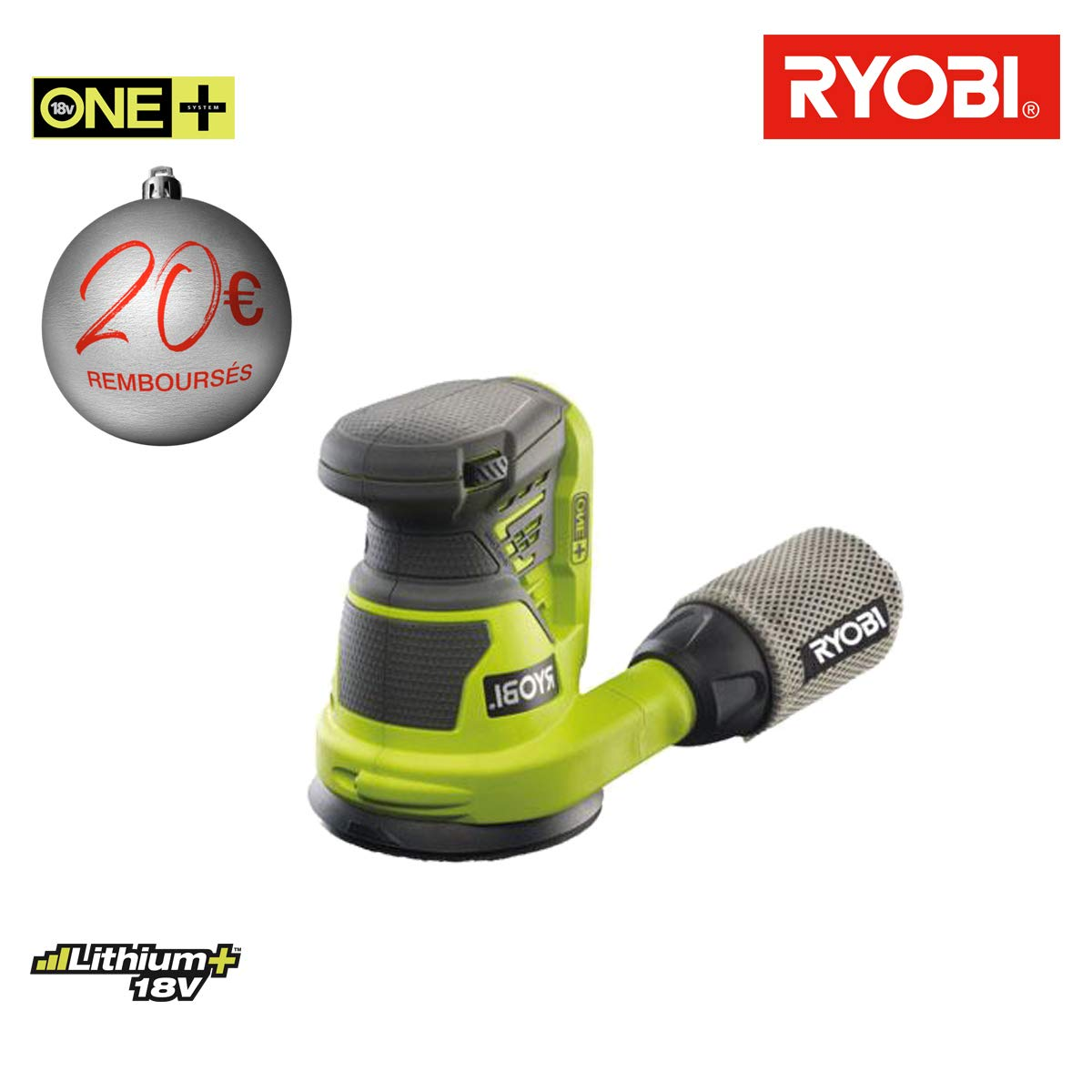 Ponceuse excentrique RYOBI 18 V OnePlus sans batterie ni chargeur R18ROS-0 Ryobi Tools