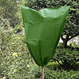 Plant Winter Wrap Frost Protection 31'' x 39'' Non-woven + Environmental PVC Plant Covers for Cold Weather Warm Cover Tree Shrub Plant Protecting Bag
