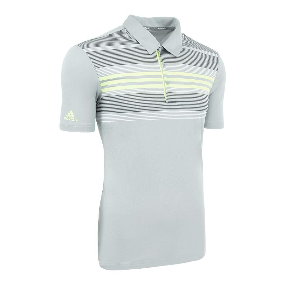 adidas Bold Sport Golf Polo para Hombre, Medium, Gry2/Hires Ylw ...