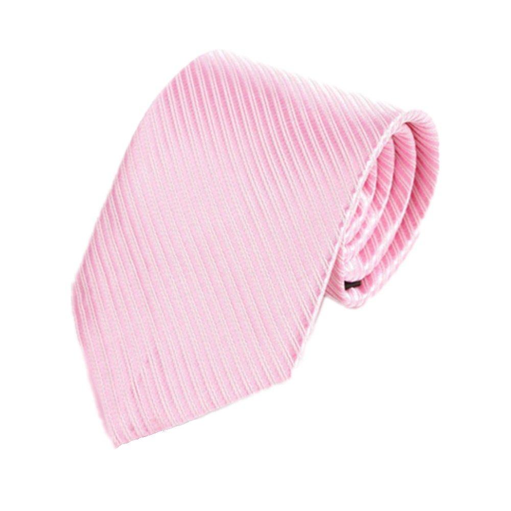 Krawatte Herren Krawatte Feiner Anzug Business Krawatte Lässige Krawatte Polyester Krawatte Rosa Gestreifte Krawatte ju-sheng