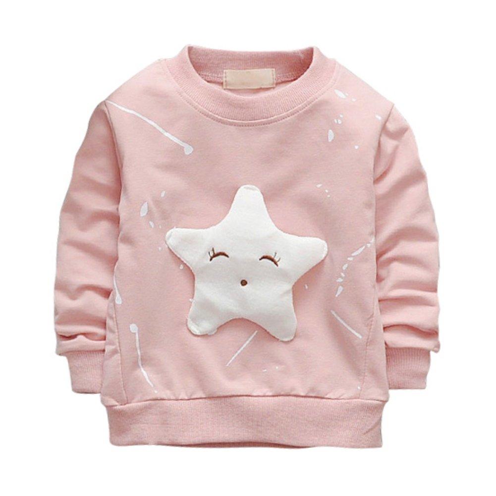 Brightup Kids Girl Boy Spring Autumn Sweatshirt Pullover, Little Kids Long Sleeve T Shirt