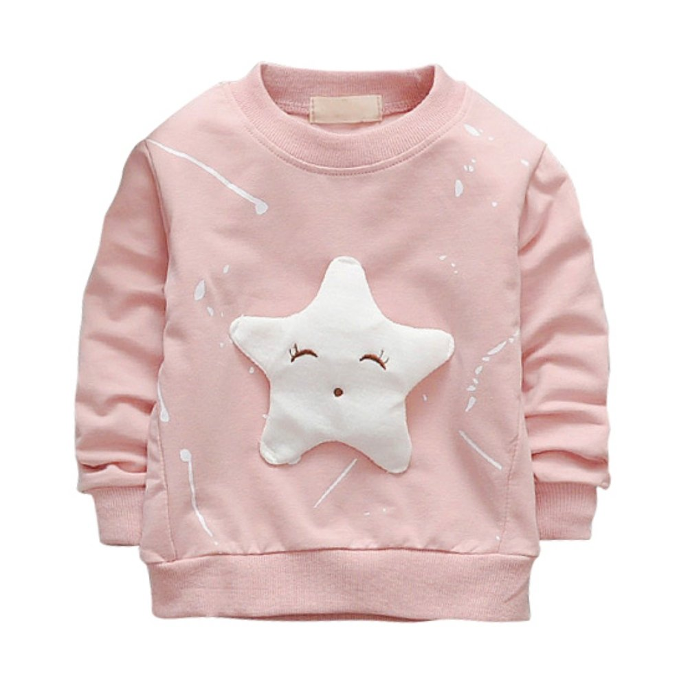 ESHOO Baby Girls Pullover Star Printed Long Sleeve T-shirt