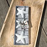 The Beach Chic White Floating Starfish Candle Set, boxed set of 3, 3