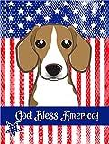 Caroline's Treasures BB2169GF God Bless American Flag with Beagle Garden Flag, Small, Multicolor