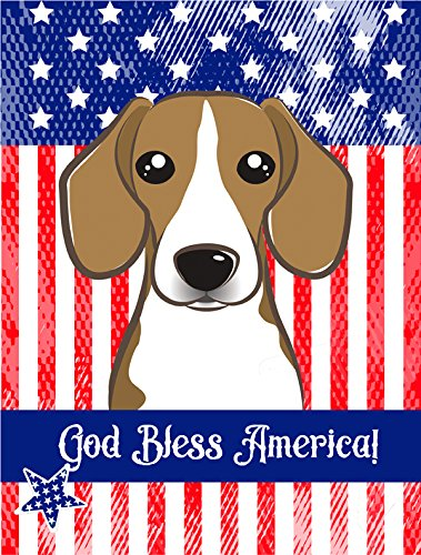 Caroline's Treasures BB2169GF God Bless American Flag with Beagle Garden Flag, Small, Multicolor