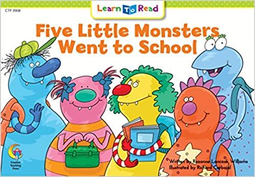 Five Little Monster Went To School Social Studies Learn to Read