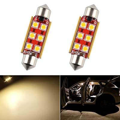 41mm 42mm 1.65in 211-2 569 578 LED Bulb Dome Light Warm White 3030 SMD for Cars Map License Plate Trunk Side Marker Interior Lights Replacement Bulbs Lamps Bright 12V 2W 1 Year Warranty 2 Pack【1797】: Automotive