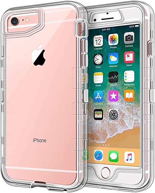 Anuck Case for iPhone 6S Case, for iPhone 6 Case (4.7 inch), Crystal Clear 3 in 1 Heavy Duty Defender Case Shockproof Full-Body Protective Case Hard ...