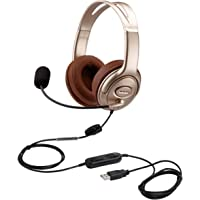 USB Headset with Microphone Noise Cancelling and Volume Controls, Computer PC Headphone with Voice Recognition Mic for…