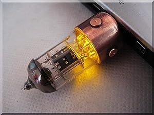 Handmade 256GB Orange Pentode Radio Tube USB Flash Drive. Steampunk/Industrial Style