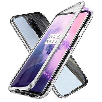 Gypsophilaa Funda para OnePlus 7 Pro, 360 Grados Delantera y Trasera de Transparente Vidrio Templado Case Cover, Fuerte Tecnología de Adsorción ...