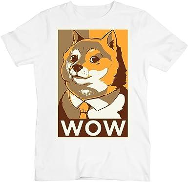 idcommerce Doge Hope Style Poster Wow la Camiseta de los Hombres XX-Large: Amazon.es: Ropa y accesorios