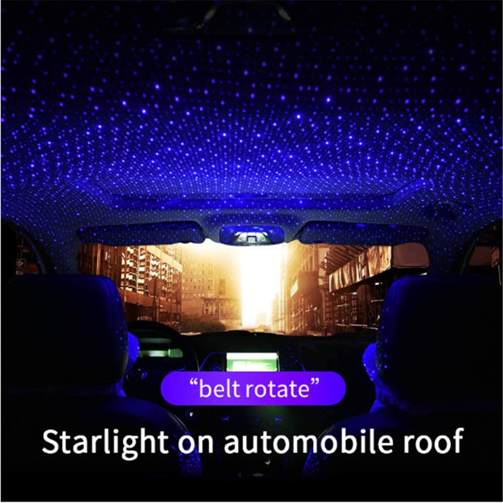 Blu-ray Plug and Play Car and Home Ceiling Romantic USB Night Light USB Car Atmosphere RGB Lamp Starlight Projection Light for Car Home Party LED Car Roof Star Night Light