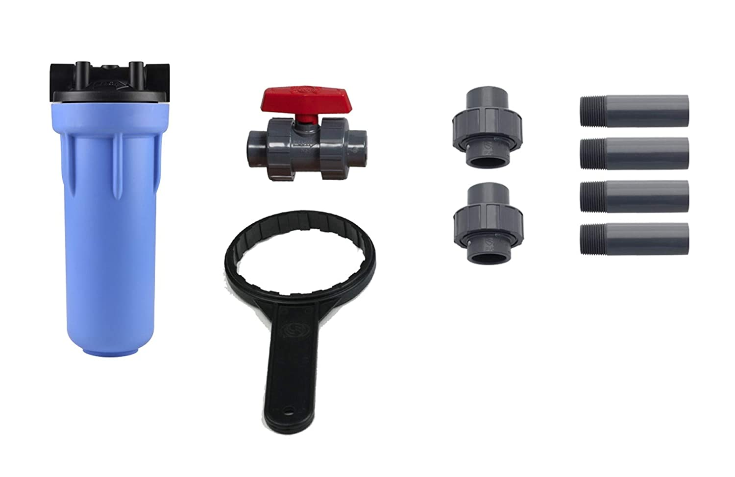 """Aquasana Rhino Whole House Water Filter System Installation Kit with 3/4"""" Fittings and 10"""" Pre-Filter"""