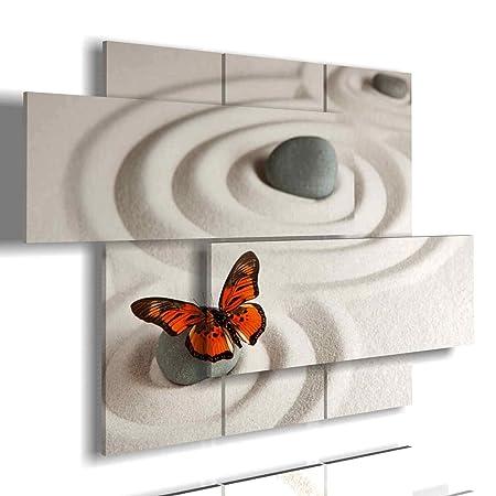 duudaart Quadro Moderno Farfalla 04 multilivello 3D Quadri Moderni  Soggiorno XXL Camera da Letto Cucina Salotto Ufficio