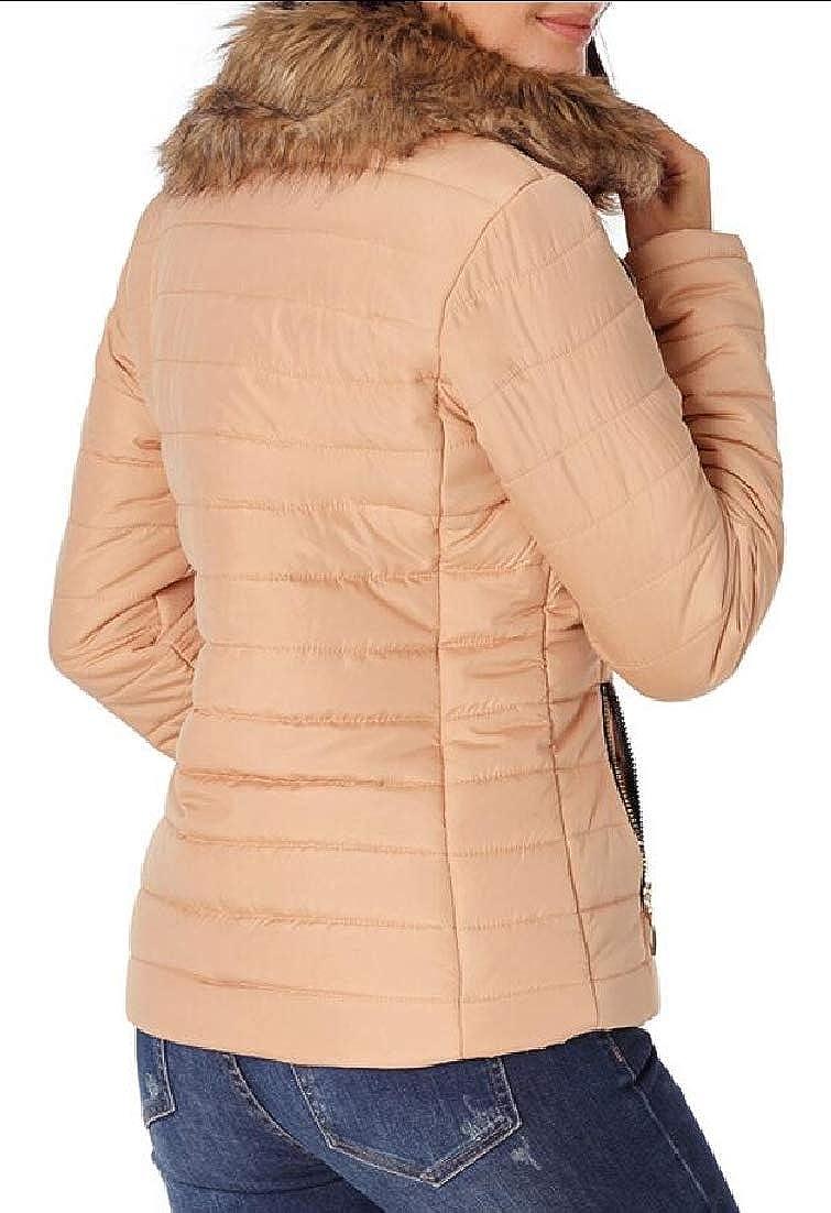 Keaac Womens Long Coats Military Hooded Warm Winter Faux Fur Parkas Anroaks Jackets