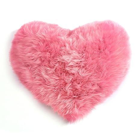Brilliant firm Almohadas de corazón de niña de Lana cojín de ...