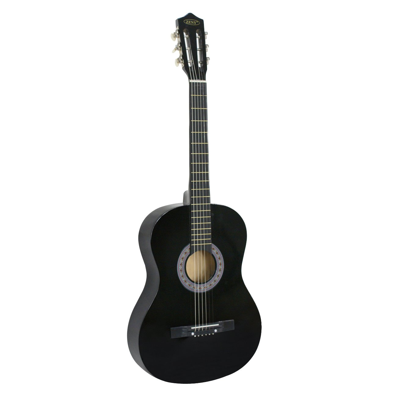 ZENY Beginners 38'' Acoustic Guitar Package Kit for Right-handed Starters Kids Music Lovers w/Case, Strap, Digital E-Tuner, and Pick, Black by ZENY (Image #5)