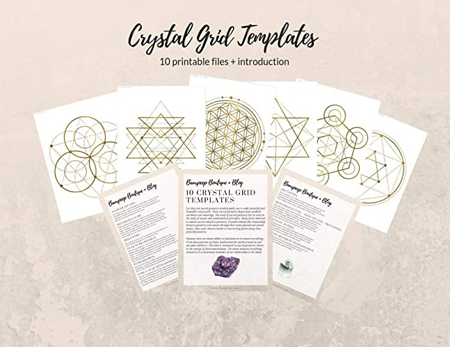 image regarding Printable Crystal Grid referred to as : Crystal Therapeutic Deal. Printable Crystal Grids