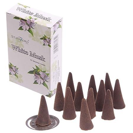 Stamford conos de incienso - aroma a almizcle blanco 37165 ...