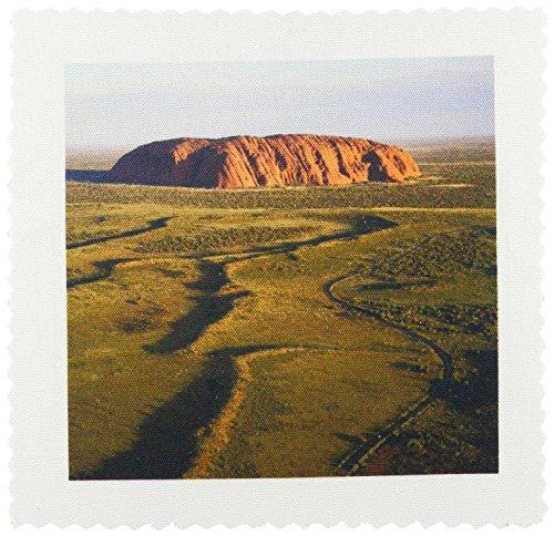3dRose qs_74751_2 Ayers Rock, Uluru-Kata Tjuta Np, No. Territory, Australia-Au01 Dwa1868-David Wall-Quilt Square, 6 by 6-Inch