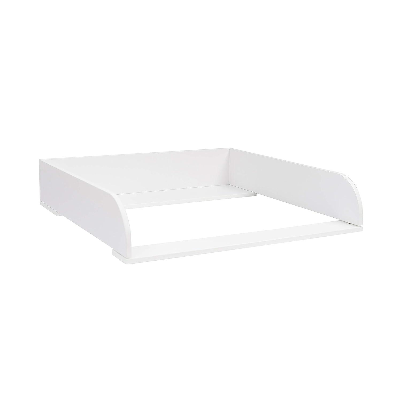 Puckdaddy Wickelaufsatz in 15 cm H/öhe f/ür alle IKEA Hemnes Kommoden wei/ß