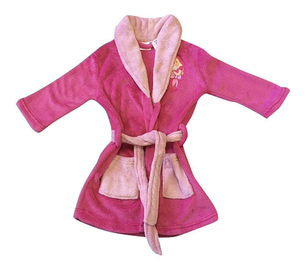 Mädchen Fleece Barbie Bademäntel in Hellen und dunklen Rosa und 4 Größen zur Auswahl