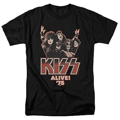 29b3b3201b Amazon.com: KISS Alive 75 Rock Music Live Album T Shirt: Clothing