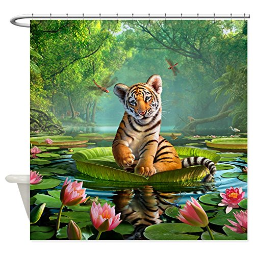 CafePress JL_Tiger Lily Decorative Fabric Shower Curtain (69