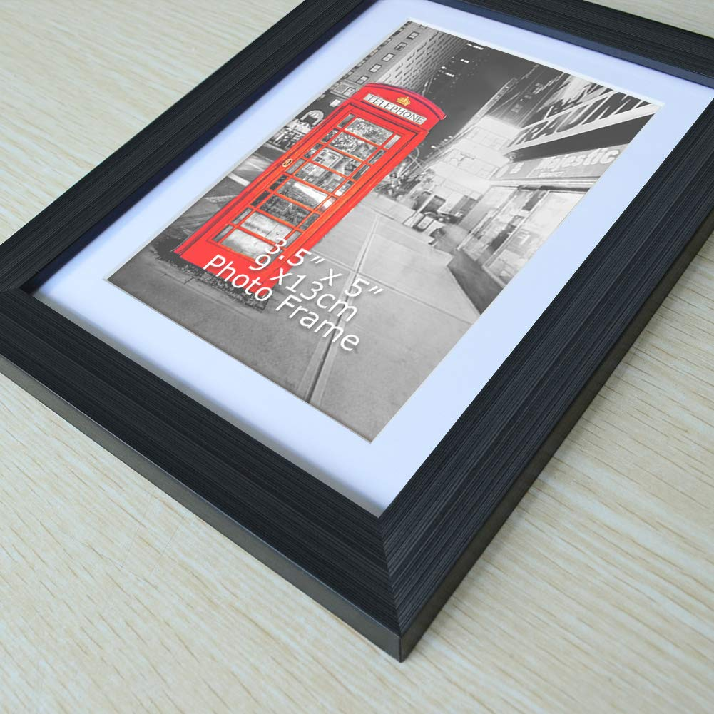 4x6 Photos Without Mat Amazing Roo 3.5x5 Picture Frames Set of 6 Black Photo Frame for 3.5 x 5 Pictures with Mat