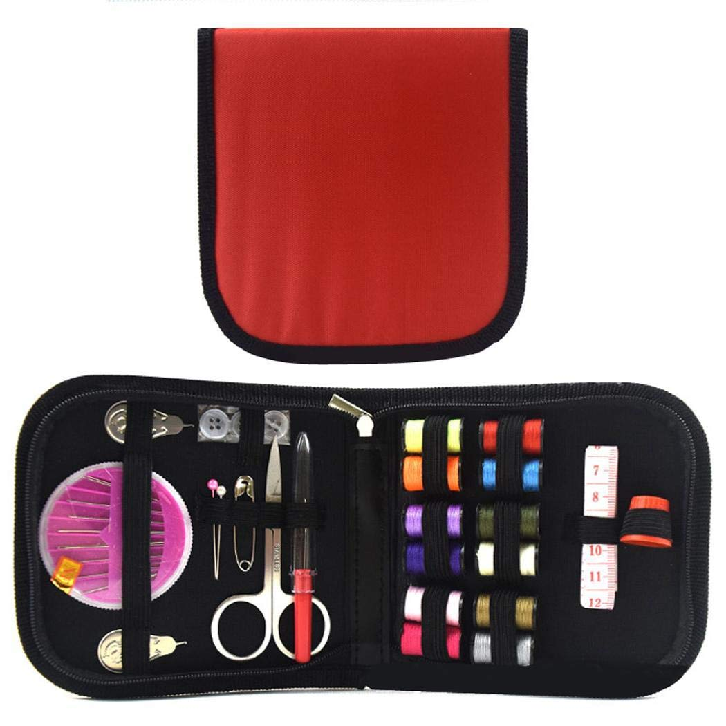 Idomeo Portable Mini Travel Household Sewing with Storage Bags Sewing Box Set Ironing Accessories