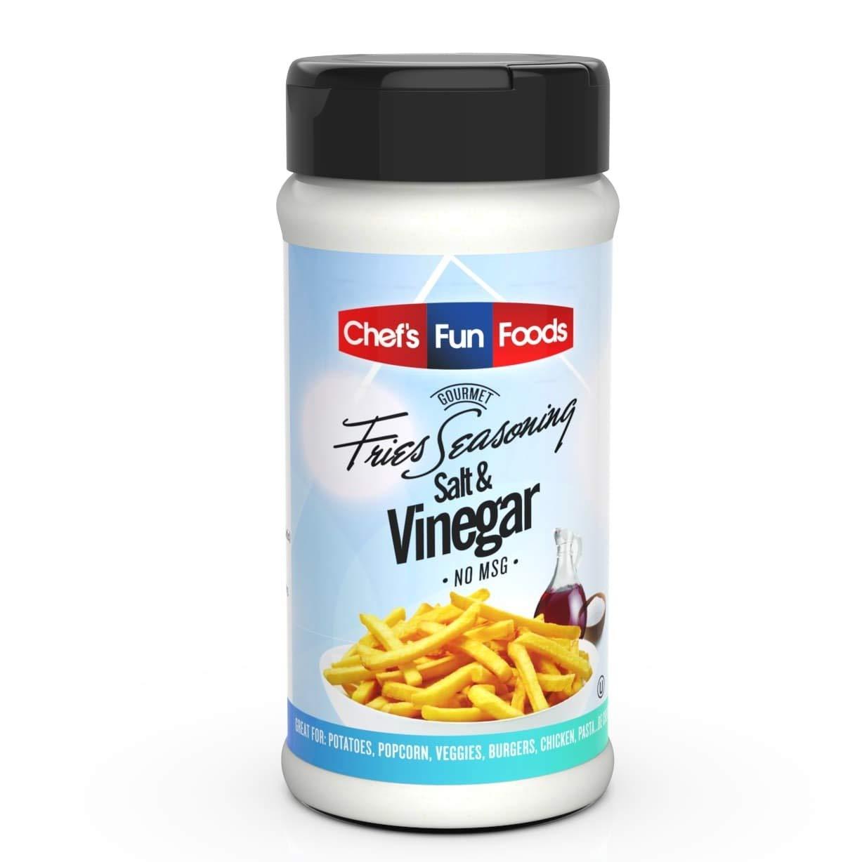 Gourmet Fries Seasonings Bottle, Salt and Vinegar, 12 Ounce : Flavored Salts : Grocery & Gourmet Food