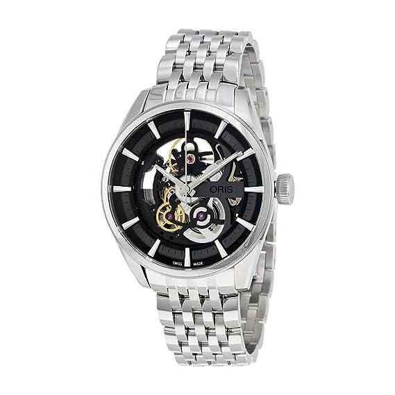 Oris Artix Negro Dial Acero inoxidable Hombre Reloj ...