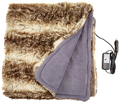 Price comparison product image Trillium Worldwide TWI00068 12V Faux Fur Cozy Heated Throw for Home and Auto