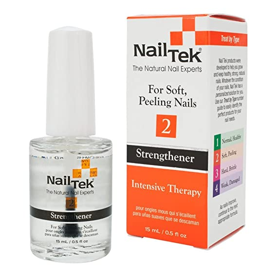 Nailtek Intensive Therapy 2 Treatment For Soft Peeling Nails 05 Fluid Ounce Amazonca Beauty