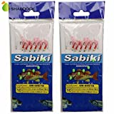 Shaddock Fishing Assorted 30pcs Glow Sabiki Bait Rigs Rigged Fishing Lures Hooks with Ball Bearing Swivel Interlock Snap Connector for Freshwater/Saltwater