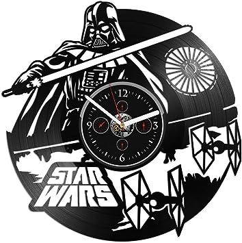Amazon.com: Reloj de pared de vinilo Star Wars Darth Vader ...