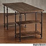 HOME Myra Vintage Industrial Modern Rustic Storage Desk Bistre Brown
