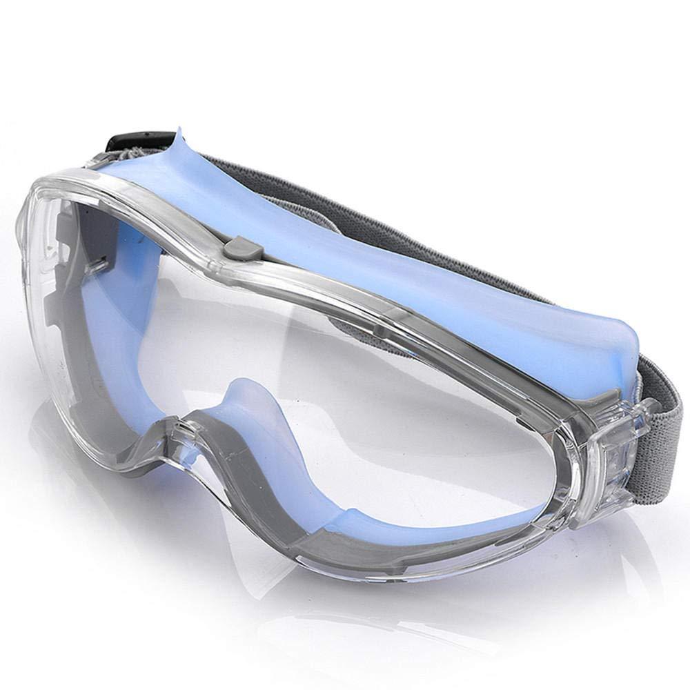 Giaowoli Laboratorio Gafas Protectoras De Seguridad De Obra Gafas De Protección De Visión Amplia Transparentes Polvo a Prueba de Viento Anti-Niebla Protección contra Salpicaduras