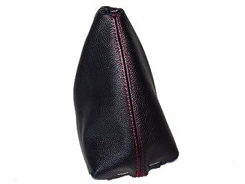 Kunststoff Rahmen schwarz Leder Naht Rot Schaltsack Schaltmanschette
