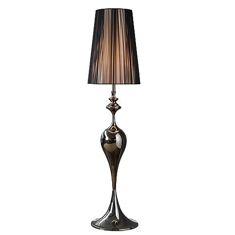 Edle Design Stehleuchte LUCIE Schwarz 160cm Lampe Stehlampe Lampen Leuchte