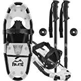 ALPS 14/17/19/21/25/27/30 Inch Snowshoes for Women Men Youth with Pair Antishock Snowshoes Poles, Free Carrying Tote Bag